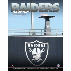 Oakland Raiders October 6th Game Day Program vs. San Diego Chargers - Click to enlarge