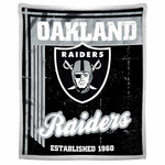 Oakland Raiders Old School Mink Sherpa Throw