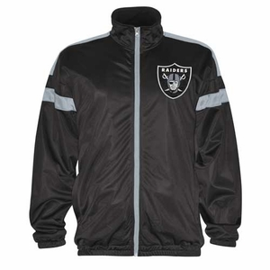 Oakland Raiders Opposite Field Track Jacket - Click to enlarge