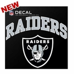 Oakland Raiders Outlined Arched Logo Die Cut Decal