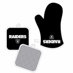 Oakland Raiders Oven Mitt and Pot Holder