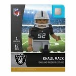 Oakland Raiders Oyo Khalil Mack Home Jersey Figure