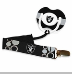 Oakland Raiders Pacifier Clip