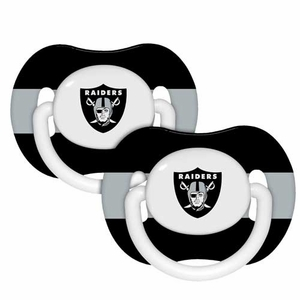 Oakland Raiders Pacifier Two Pack Set - Click to enlarge