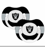 Oakland Raiders Pacifier Two Pack Set