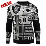 Oakland Raiders Patches Crew Sweater