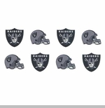 Oakland Raiders Peel and Stick Tattoos