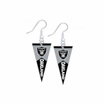 Oakland Raiders Pennant Dangle Earrings
