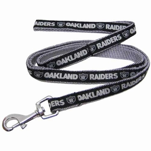 Oakland Raiders Pet Leash - Click to enlarge