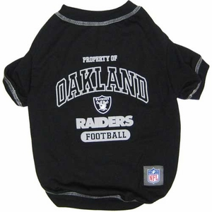 Oakland Raiders Pet Property Of Tee - Click to enlarge