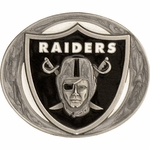 Oakland Raiders Pewter Sport Belt Buckle