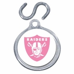 Oakland Raiders Pink Pet Charm