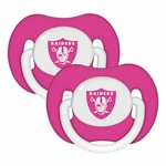 Oakland Raiders Pink Two Piece Pacifier Set