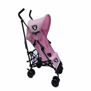 Oakland Raiders Pink Umbrella Baby Stroller - Click to enlarge