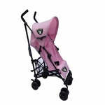 Oakland Raiders Pink Umbrella Baby Stroller