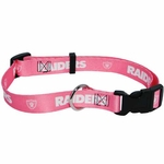 Oakland Raiders Pink Web Collar