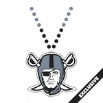 Oakland Raiders Pirate Logo Bead Necklace