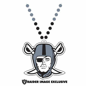 Oakland Raiders Pirate Logo Bead Necklace - Click to enlarge