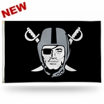 Oakland Raiders Pirate Logo Flag