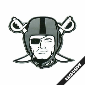 Oakland Raiders Pirate Logo Lapel Pin - Click to enlarge