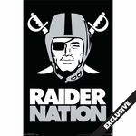 Oakland Raiders Pirate Logo Poster