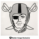 Oakland Raiders Pirate Logo Static Decal