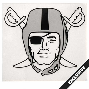 Oakland Raiders Pirate Logo Static Decal - Click to enlarge