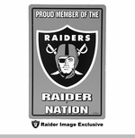 Oakland Raiders Plastic Proud Member Sign