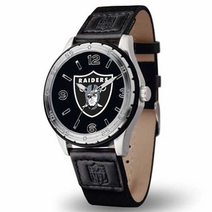 Oakland Raiders Player Canvas Strap Watch - Click to enlarge