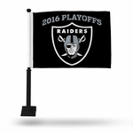 Oakland Raiders Playoff Limited Car Flag