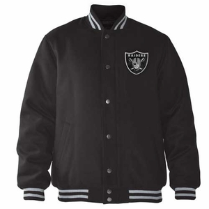 Oakland Raiders Playoff Wool Blend Jacket - Click to enlarge