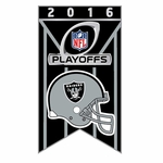Oakland Raiders Playoffs Limited Team Banner Pin