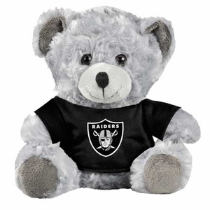 Oakland Raiders Plush Grey Bear - Click to enlarge
