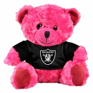 Oakland Raiders Plush Pink Bear - Click to enlarge