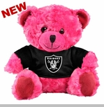 Oakland Raiders Plush Pink Bear