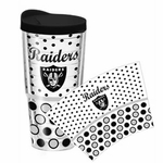 Oakland Raiders Polka Dot 24oz Tumbler
