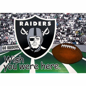Oakland Raiders Post Card Magnet - Click to enlarge