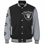 Oakland Raiders Power Hitter Varsity Jacket