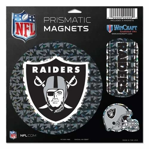 Oakland Raiders Prismatic 11 x 11 Magnet Sheet - Click to enlarge