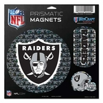 Oakland Raiders Prismatic 11 x 11 Magnet Sheet