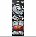 Oakland Raiders Prismatic 4.5 x 11 Decal Set