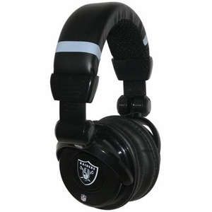 Oakland Raiders Pro DJ Headphones - Click to enlarge