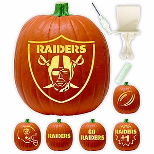 Oakland Raiders Pumpkin Carving Kit - Click to enlarge