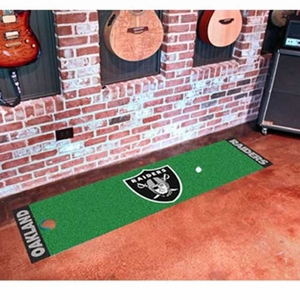 Oakland Raiders Putting Green Runner - Click to enlarge