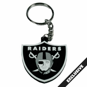 Oakland Raiders PVC Shield Logo Key Chain - Click to enlarge