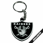 Oakland Raiders PVC Shield Logo Key Chain