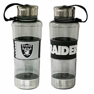 Oakland Raiders PVC Wrap Water Bottle - Click to enlarge
