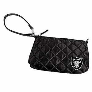 Oakland Raiders Quilted Wristlet - Click to enlarge