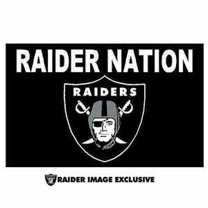 Oakland Raiders Raider Nation 3x5 foot Flag - Click to enlarge