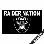 Oakland Raiders Raider Nation 3x5 foot Flag